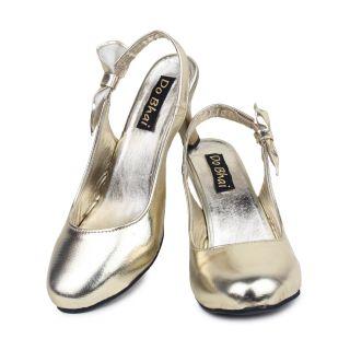 Do Bhai WomenS Gold Heel Sandals (Heel -Belly-200-Golden)