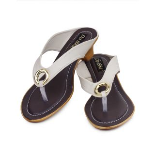 Do Bhai WomenS Cream Wedge Heel Sandals (S-550-Cream)