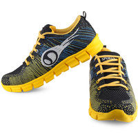 Urban Tape MenS Yellow Lace-Up Sports Shoes