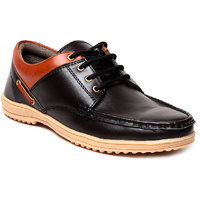 Juan David Mens Black Lace-up Running Shoes