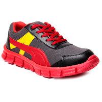 Juan David Mens Red Lace-up Running Shoes - 92636320