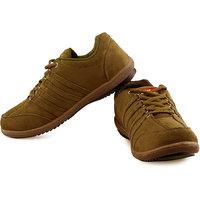 Lancer Mens Tan Lace-up Sports Shoes