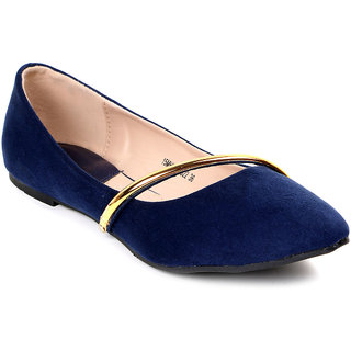 Solovoga Womens Blue Casual Slip On Shoes