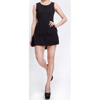 Elegant Splicing Gauze Sleeveless Slim All Match Dress. GLITZY BY ROOHIE