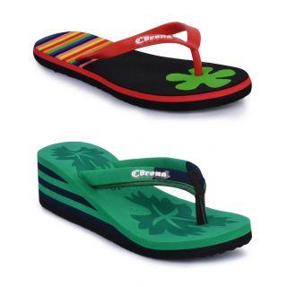 Corona Womens Multicolor Slipper Combo - 92850094