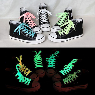 1pc 80cm Sport Luminous Shoelace Glow In The Dark Night Color Fluorescent Shoelace Athletic Sport Flat Shoe Laces