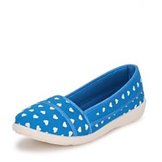 American Swan Womens Blue Casuals Slip On Shoes