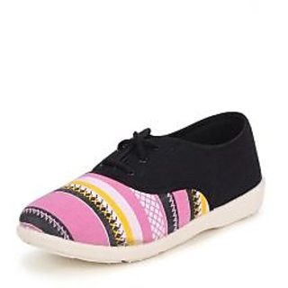 American Swan Womens Pink Sneakers Lace-Up Shoes - 92909812