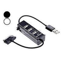 3 Ports USB 2.0 HUB Connect Kit Data Transmission For Samsung Galaxy Tab Black