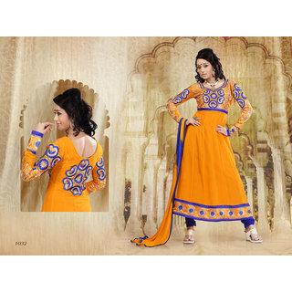 Riti Riwaz Yellow Georgette  Designer Dress Including Matching Dupatta-1032
