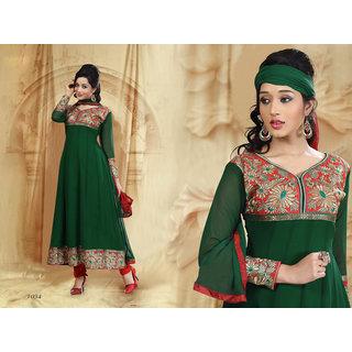 Riti Riwaz Green Georgette  Designer Dress Including Matching Dupatta-1034