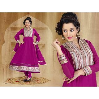 Riti Riwaz Magenta Georgette  Designer Dress Including Matching Dupatta-1037