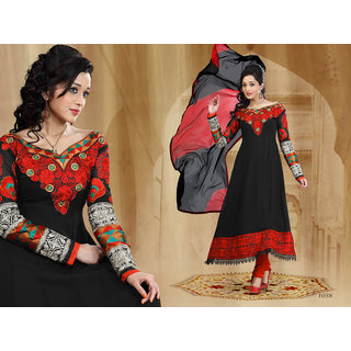 Riti Riwaz Black Georgette  Designer Dress Including Matching Dupatta-1038