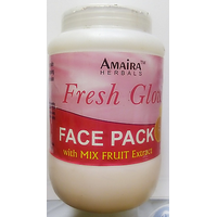 900 Ml New Advanced Herbal Natural Fruits Skin Whitening Face Pack With Fruit Extracts Special Containers For PARLOURS