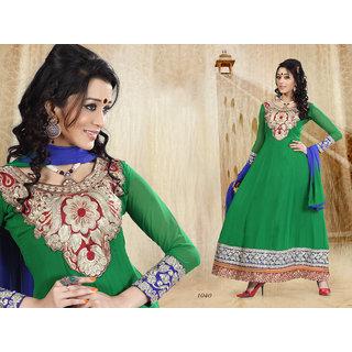 Riti Riwaz Green Georgette  Designer Dress Including Matching Dupatta-1040