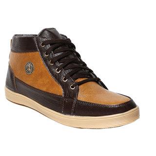 Craze Shop MenS Burgundy Casual Shoes