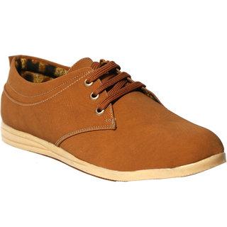 Craze Shop MenS Tan Casual Shoes