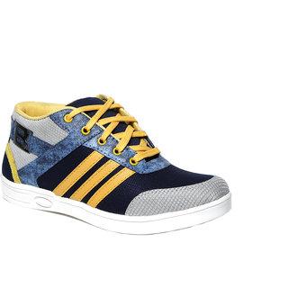 Craze Shop MenS Yellow Sports Shoes