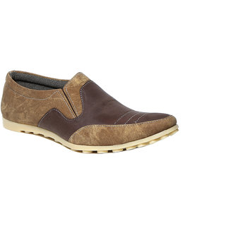 Craze Shop MenS Beige Loafers