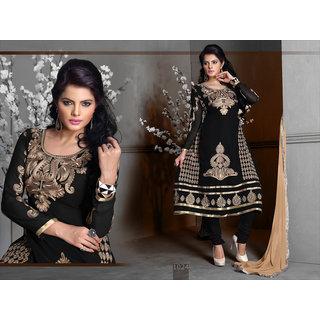 Riti Riwaz Black Georgette Designer Dress Including Matching Dupatta-1024
