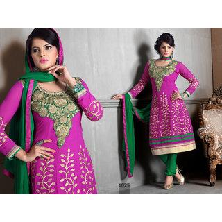 Riti Riwaz Pink Georgette Designer Dress Including Matching Dupatta-1025