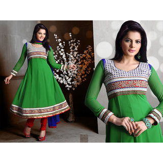 Riti Riwaz Green Georgette Designer Dress Including Matching Dupatta-1026