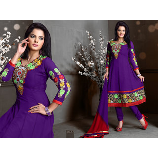 Riti Riwaz Blue Georgette Designer Dress Including Matching Dupatta-1027