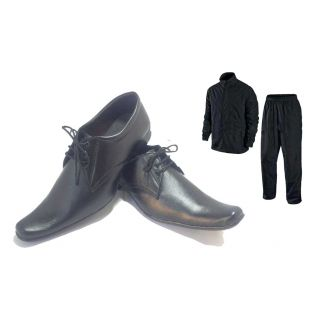 Black Formal Shoes For Men With Rain Breaker Complete Rain Suit With Carry Bag
