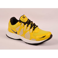 Odr MenS Yellow Lace-Up Sport Shoes