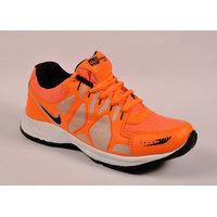 Odr MenS Orange Lace-Up Sport Shoes