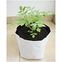 UV-STABILIZED - 600 GSM GROW BAG 60x28x28 Cms ( Black  White ) - 25 No Kitchen/Terrace/Poly House Grow Bags