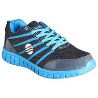Action MenS Grey  Blue Lace Up Sports Shoes - 93291025