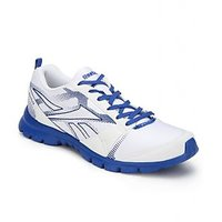 Reebok White And Blue Running Sports Shoes