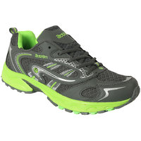 Action MenS Grey  Green Lace Up Sports Shoes - 93287953