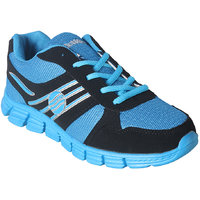Action MenS Grey  Blue Lace Up Sports Shoes - 93291028