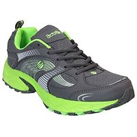 Action MenS Grey  Green Lace Up Sports Shoes