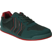 Action MenS Green Lace Up Sports Shoes - 93291049