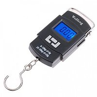Portable Hanging Kitchen Weight Weighing Scale 50Kg Digital LCD Pocket With Tare