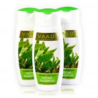 Vaadi Herbals - Value Pack Of 3 Superbly Smoothing HEENA SHAMPOO With Green Tea Extracts (110mlx3)