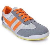 Action Shoes MenS Grey,Orange Lace-Up Sport Shoes