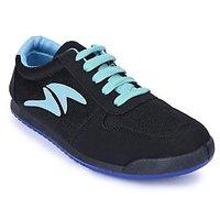 Action Shoes MenS Black Lace-Up Sport Shoes