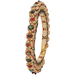 Bridal & Wedding Party Jewelry Steady Ethnic 2pc Kada Bracelets Traditional Indian Bangle Set Bollywood Jewellery 2*6 Engagement & Wedding