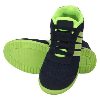 KaceyS Sports Shoes With Blue With Green Sole Shoes For Unisex Size- 6