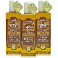 Khadi Maha Bhringraj Herbal Hair OiL  Pack Of 3 200ml