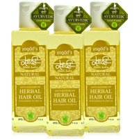 Khadi Anti-Dandruff Herbal Hair Oil Pack Of 3 200 Ml