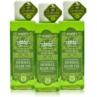 Khadi Anti-Hairfall Herbal Hair Oil Pack Of 3 100ml