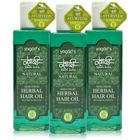 Khadi Mind-Fresh Herbal Hair Oil  Pack Of 3  200 Ml