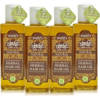 Khadi Maha Bhringraj Herbal Hair OiL  Pack Of 4 200ml