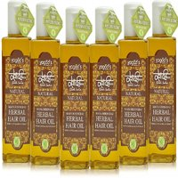 Khadi Maha Bhringraj Herbal Hair OiL  Pack Of 6 200ml