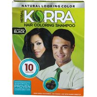 Korra Coloring Shampoo Hair Color Black Pack Of 30 30 ML Each